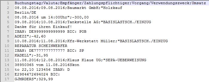 Prüfpunkte Importfehler CSV-Datei