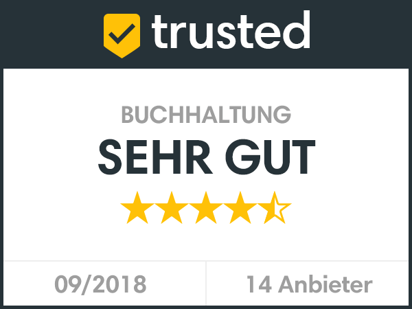 Bewertungssiegel Sehr Gut von Trusted.de