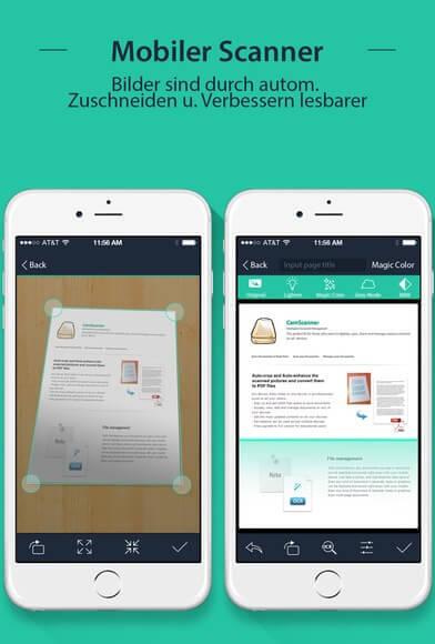 Scan-App für Reisekostenabrechnung